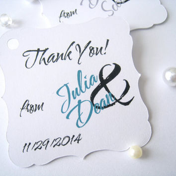Thank you favor tags, wedding favor tags, favor tags, party favor tags, gift tags - 30 count