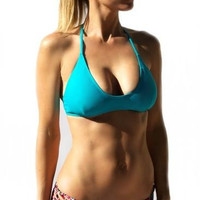 North Shore T Back Bikini Top