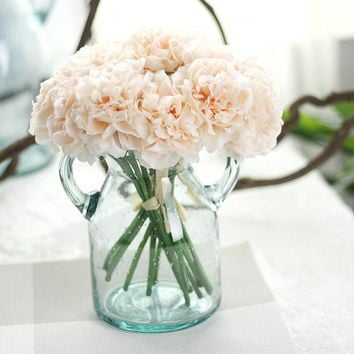 1 Bouquet 5 Head Wedding Artificial Peony Hydrangea Flower Home Wedding Party Birthday New Year Valentines day Floral Decor