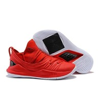 Under Armour Stephen Curry 5 SC Red Black White Basketball Shoes Sneakers