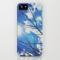Thorns on blue iPhone & iPod Case by Deniz Erçelebi