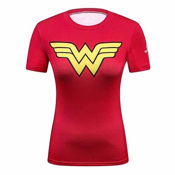 Wonder Woman Fitness  Shirt