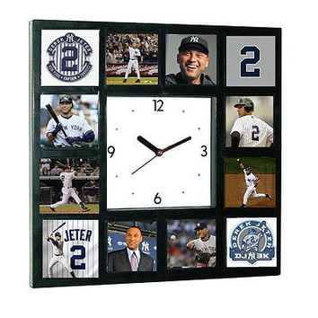 Limited Edition New York Yankees Derek Jeter Clock with 12 career pictures