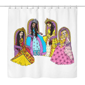 Shower Curtain - Circle of Princess Friends
