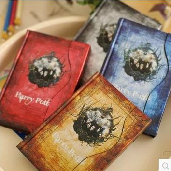 2017-2018-2019 new agenda Planner G Vintage harry potter notebook Hard Cover Notepad Planner Gift  Diary Book calendar book