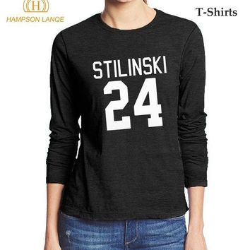 PEAP78W Teen Wolf Stilinski 24 Fashion Women's T Shirt 2017 Hot Autumn 100% Cotton High Quality Long Sleeve T-Shirt Hipster Tops Tees