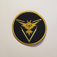 Team Instinct Patch, Team Instinct Iron On, Team Instinct, Pokemon Go Patch, Pokemon Go, Team Instinct Sew On