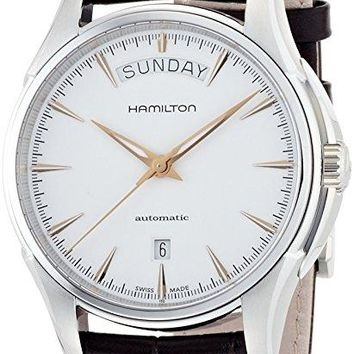 Hamilton Jazzmaster White Dial SS Leather Automatic Men's Watch H32505511