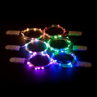 2 Sets of Micro LED Super Bright Color Lights on 6 Ft Silver Wire