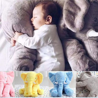 High quality Elephant pillow Plush Toys dolls Elephant Stuffed Animal Toys Elephant Throw Pillow Elephant Baby sleeping pillow D733