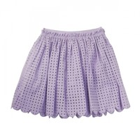 Cut work lace skirt