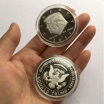 President Trump Silver Commemorative Novelty Coin 2017