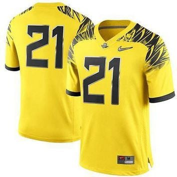 Oregon Ducks Jersey Nike Mens #21 Replica Football Yellow