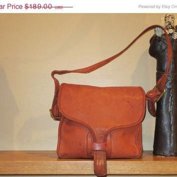 ON SALE Rare Distressed New York City Coach Russet Leatherware Courier Bag Pouch Purse
