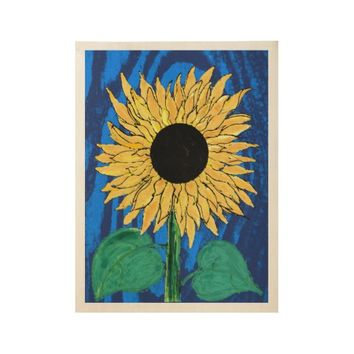 sunflower wood poster