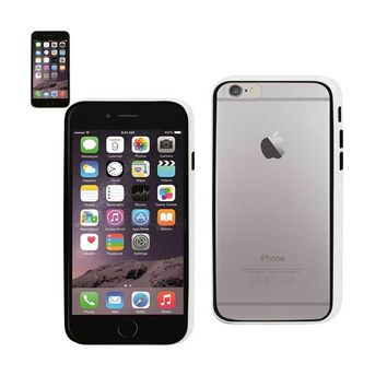 Reiko REIKO IPHONE 6 BUMPER CASE WITH TEMPERED GLASS SCREEN PROTECTOR IN WHITE