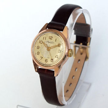 Womens Watch Aurora 50s. Mid Century Mechanical Watch For Women. Rare Russian Wrist Watch Womans. Antique Ladies Watch 15 Jewels. Gift her