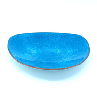 Pretty Blue Enamel Bowl Enamel Trinket Dish