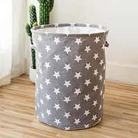 Panier De Rangement Cesta Cotton Linen Storage Bucket Laundry Basket Hamper Foldable