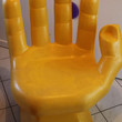 Awesome Original 70s Vintage XL Big Chair Design Seating Object Pop Sculpture Culture Moulded Plastic Labeled RMIC 80s Space Age Orbit