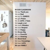 In Our Classroom Wall Decal