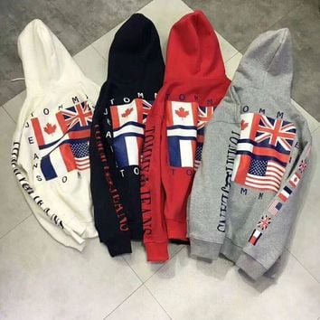 """ Tommy Hilfiger "" Women Men Hot Hoodie Cute Sweater G"