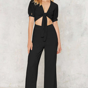 Gathered Short Sleeve Crop Top and High Waist Pants Sets