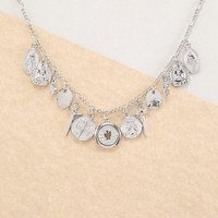 Dainty Chain Religion Pendant And Coin Necklace