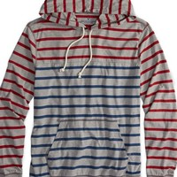 AEO Men's Factory Striped Hoodie T-shirt