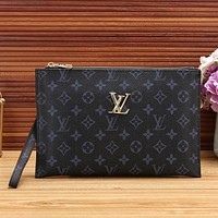 Louis Vuitton LV New Fashion Monogram Check Clutch Bag Leisure Women Handbag Tote Satchel