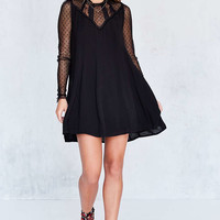 Kimchi Blue Constance Embroidered Mesh Mock-Neck Frock Dress - Urban Outfitters