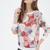 Floral Printed Woven Pullover