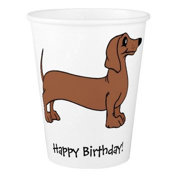 Dachshund Dog Birthday Party Paper Cups Paper Cup