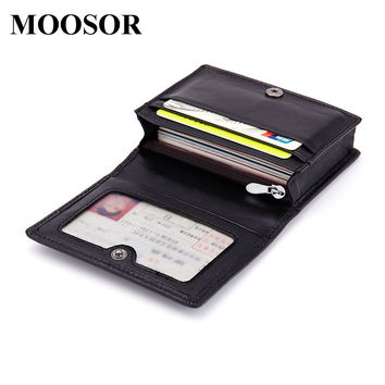 2017 New Genuine Leather Women Men ID Card Holder Card Wallet Purse Credit Card Business Card Holder Protector Organizer DC164
