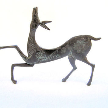 Ancient Greek Sculpture Geometric Bronze Deer