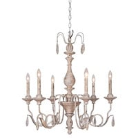 Mariana Imports Weathered Ecru Thirty Inch Chandelier
