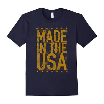 Patriotic American USA Distressed T-Shirt for US Patriots