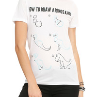 Dino Print Girls T-Shirt