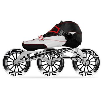 100% Original Bont Enduro Speed Inline Skates Size 29-40 Heatmoldable Carbon Fiber Boot Frame 3*110mm G15 Wheels Racing Patines