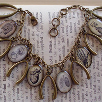 The Anatomy Book  Anatomy Charm Bracelet  by TheLysineContingency