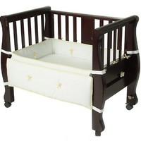 Arm`s Reach Co-Sleeper Bassinet Sleigh Bed, Expresso