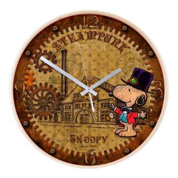 Steampunk Snoopy Wooden Wall Clock> NEW! Steampunk Snoopy> Snoopy Store