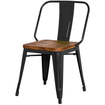Grand Metal Side Chair- Set of 4 BLACK