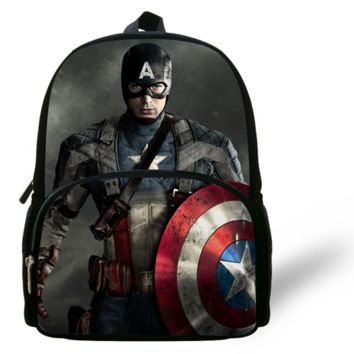 Captain America 3D Zipper Backpack for Kids