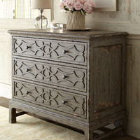 Gray Three-Drawer Chest - Horchow