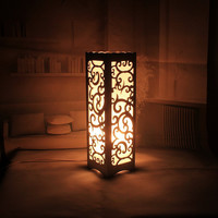 LED decorative table lamp vintage Wood Plastic Rustic Style Brief Modern Lampshade Living Room Bedroom 110-220V desk light