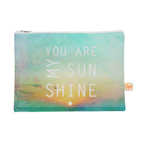 "Everything Bag- Kess inHouse - Alison Coxon ""You Are Myn Sunshine"" - Great for Makeup, Accessories, and Travel"