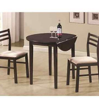 Coaster 3 Piece Dining  Room Table Chair Set Cappuccino New Furniture Kitchen