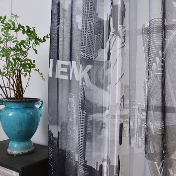 2016 sheer tulle curtains for bedroom Statue of Liberty New York window Curtains for Living Room kitchen curtains tulles sheers
