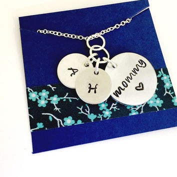 Mommy Necklace, Mom Necklace Mommy Jewelry, Personalized Mom Necklace, Mother's Day Necklace, Mom Gift, Initial Necklace